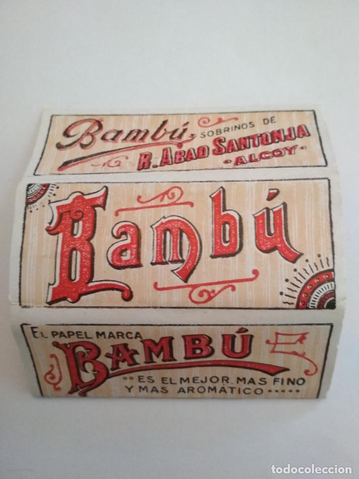 LIBRITO PAPEL DE FUMAR, BAMBU - SOBRINOS DE R.ABAD SANTONJA - ALCOY (Coleccionismo - Objetos para Fumar - Papel de fumar )