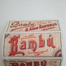 Papel de fumar: LIBRITO PAPEL DE FUMAR, BAMBU - SOBRINOS DE R.ABAD SANTONJA - ALCOY. Lote 132163434