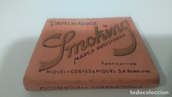 Papel de fumar: LIBRITOS DE PAPEL DE FUMAR SMOKING CAJA ROSA USADAS - Foto 3 - 132340402