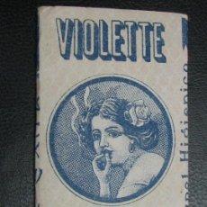 Papel de fumar: PAPEL DE FUMAR VIOLETTE ALCATRAO. Lote 132741978