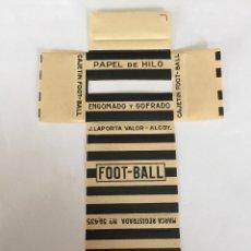 Papel de fumar: LIBRITO DE PAPEL DE FUMAR FOOT BALL. Lote 199138007
