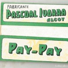 Papel de fumar: LIBRITO PAPEL DE FUMAR PAY PAY PASCUAL IVORRA ALCOY COMPLETO MBE. Lote 134022398