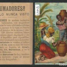 Papel de fumar: CROMO PUBLICIDAD PAPEL DE FUMAR - J. GIRALT BARCELONA - 8,5 X 11,5 - P27043. Lote 134575458