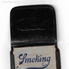 Papel de fumar: FUNDA DE PAPEL DE FUMAR . FOTO IBOR RADIO VALENCIA - PAPEL SMOKING AZUL. Lote 134830222