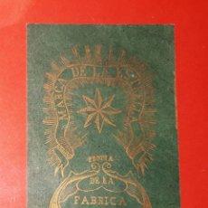 Papel de fumar: MARCA DE LA ESTRELLA. PROPIA DE LA FABRICA DE FRANCISCO JAVIER ALBORS EN ALCOY. Lote 135611146