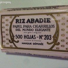 Papel de fumar: PAPEL RIZ-ABADIE 500 HOJAS NUMERO 203.. Lote 137945984