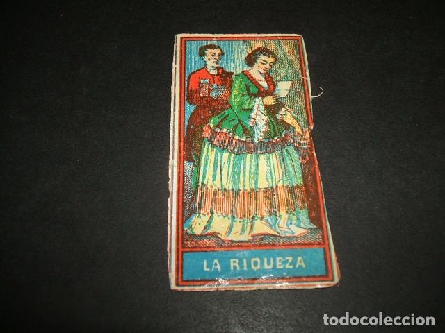 PAPEL DE FUMAR SIGLO XIX CROMO DE LIBRILLO LA RIQUEZA (Coleccionismo - Objetos para Fumar - Papel de fumar )