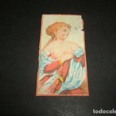 Papel de fumar: PAPEL DE FUMAR SIGLO XIX CROMO DE LIBRILLO EROTICO. Lote 138762310