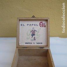Papel de fumar: CAJA PAPEL DE FUMAR GOL. Lote 139227362