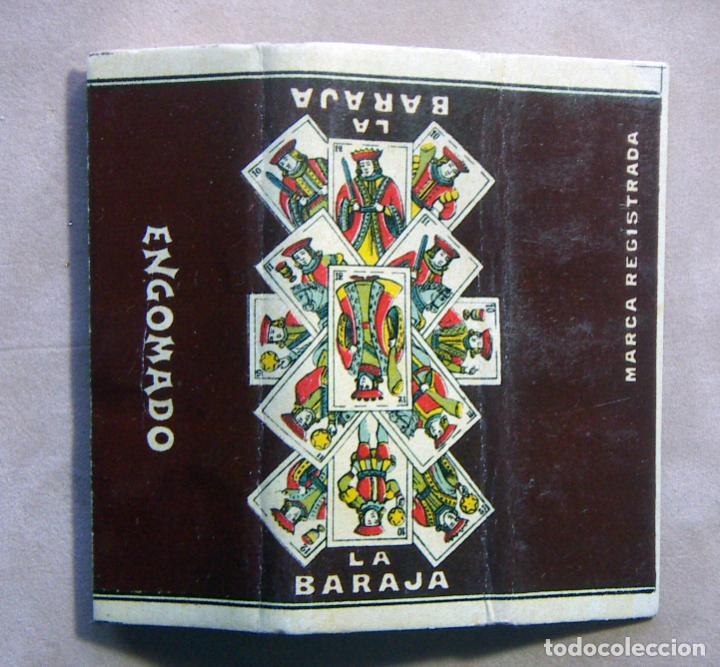 PAPEL DE FUMAR LA BARAJA C. GISBERT TEROL ALCOY - ENGOMADO (Coleccionismo - Objetos para Fumar - Papel de fumar )