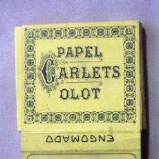 Papel de fumar: PAPEL DE FUMAR L. RIUS CARLETS – OLOT. Lote 139606862