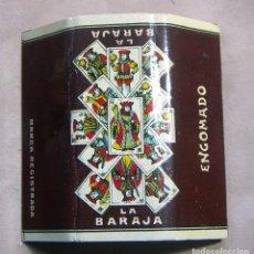 Papel de fumar: ANTIGUO PAPEL DE FUMAR LA BARAJA C. GISBERT TEROL ALCOY - ENGOMADO. Lote 139610550
