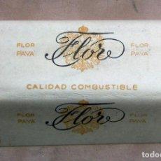 Papel de fumar: PAPEL DE FUMAR FLOR PAYA S.A. PAYA MIRALLES. VALENCIA ALARGADO. Lote 139615182