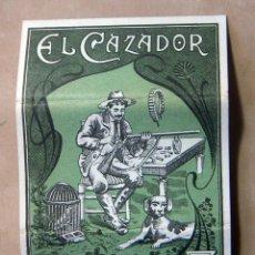 Papel de fumar: ANTIGUO PAPEL DE FUMAR EL CAZADOR MIGUEL BOTELLA Y HERMANOS ALCOY. Lote 139617230