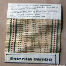 Papel de fumar: ANTIGUO PAPEL DE FUMAR ESTERILLA BAMBU. Lote 139683234