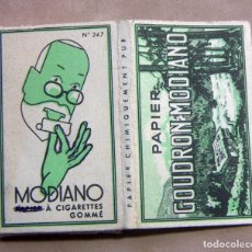 Papel de fumar: ANTIGUO PAPEL DE FUMAR GOUDRON MODIANO FRANCIA . Lote 139684250
