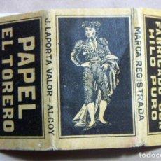 Papel de fumar: ANTIGUO PAPEL DE FUMAR EL TORERO J. LAPORTA VALOR - ALCOY. Lote 139684354
