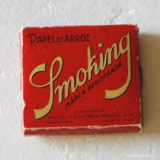 Papel de fumar: LIBRILLO PAPEL DE FUMAR SMOKING. PAPEL DE ARROZ.. Lote 139905530