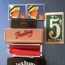 Papel de fumar: PAPEL DE FUMAR Y DOS MAQUINAS DE LIAR CIGARROS. Lote 142246725