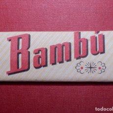 Papel de fumar: PAPEL DE FUMAR - BAMBU - SOBRINOS DE R. ABAD - SANTONJA - ALCOY. Lote 142359414