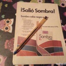 Papel de fumar: ANTIGUO ANUNCIO PUBLICIDAD REVISTA 1973 PAQUETE DE TABACO SOMBRA REVERSO DON MIKI 50 AÑOS. Lote 142989626