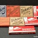 Papel de fumar: LOTE 8 ANTIGUOS LIBRILLOS DE PAPEL DE FUMAR SMOKING Y DOMINO ENTEROS SIN EMPEZAR. Lote 143552794