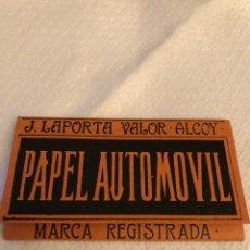 Papel de fumar: LIBRITO DE PAPEL EL AUTOMÓVIL. Lote 144903464