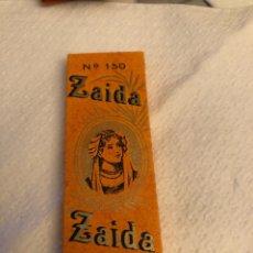 Papel de fumar: LIBRITO DE PAPEL ZAIDA. Lote 144903680
