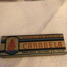 Papel de fumar: LIBRITO DE PAPEL CARABELA. Lote 144903972