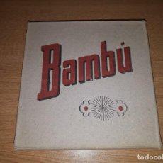Papel de fumar: CAJA SIN ABRIR DE 100 LIBRILLOS DE PAPEL DE FUMAR BAMBU AÑOS 1930 ALCOY. Lote 147006662