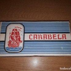 Papel de fumar: 50 LIBRITOS DE PAPEL DE FUMAR CARABELA AÑOS 40 ALCOY EN SU CAJA ORIGINAL.. Lote 147007006