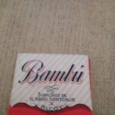 Papel de fumar: **ANTIGUO LIBRILLO DE PAPEL DE FUMAR, --- BAMBÚ ---**. Lote 147321722