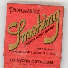 Papel de fumar: LIBRETA DE PAPEL DE FUMAR SMOKING DE LOS 50.. Lote 147330549