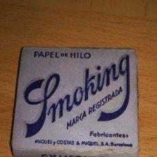 Papel de fumar: VIEJO LIBRILLO DE PAPEL DE FUMAR SMOKING. Lote 147559898