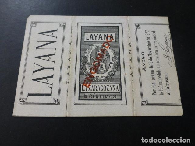Papel de fumar: PAPEL DE FUMAR LAYANA ZARAGOZA ENVUELTA DE LIBRILLO SIGLO XIX PARTIDA DE DAMAS R. BALACA - Foto 2 - 147816254