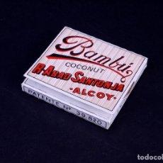 Papel de fumar: PAPEL DE FUMAR BAMBU COCONUT. ALCOY. Lote 149850358