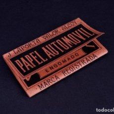Papel de fumar: PAPEL DE FUMAR EL AUTOMOVIL. ALCOY. Lote 149851786