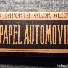 Papel de fumar: PAPEL DE FUMAR - PAPEL AUTOMOVIL - J. LAPORTA VALOR - ALCOY - COMPLETO. Lote 150699242