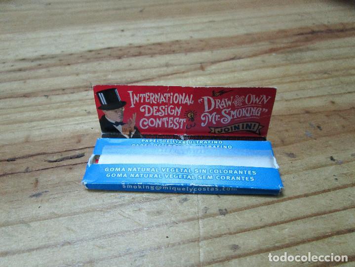 Papel de fumar: CAJETILLA DE PAPEL DE FUMAR SMOKING, BIEN CONSERVADA - Foto 2 - 150800802