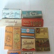Papel de fumar: LOTE DE 12 LIBRILLOS DE PAPEL DE FUMAR EL TORO ZAIDA EN EL BARCO CARABELA DEL TORO FHUC BAMBÚ MARFI. Lote 150986218