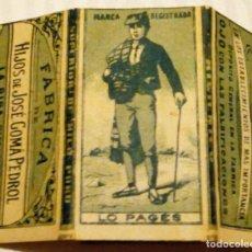 Papel de fumar: LO PAGES PAPEL DE FUMAR FABRICA DE HIJOS DE JOSE GOMA PEDROL LA RIBA TARRAGONA 1900. Lote 151172414