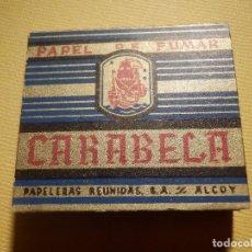 Papel de fumar: LIBRILLO DE PAPEL DE FUMAR - PAPELILLOS LIAR TABACO - CARABELA - PAPELERAS REUNIDAS. Lote 152698478