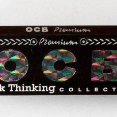 Papel de fumar: LIBRILLO PAPEL DE FUMAR. OCB. PREMIUM BLACK THINKING COLLECTION.. Lote 154154130
