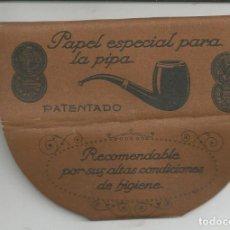 Papel de fumar: PAPEL FUMAR ESPECIAL PARA LA PIPA, F. ROGER (BARCELONA) - LLENO, CON INSTRUCCIONES. Lote 155077986