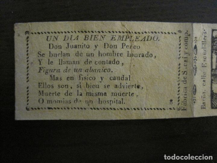 Zigarettenpapiere: ENVOLTORIO PAPEL DE FUMAR SAURI Y COMP-SIGLO XIX-BARCELONA-VER FOTOS-(V-16.137) - Foto 2 - 155672814