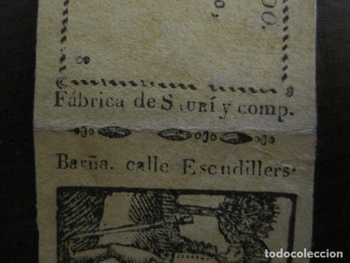 Zigarettenpapiere: ENVOLTORIO PAPEL DE FUMAR SAURI Y COMP-SIGLO XIX-BARCELONA-VER FOTOS-(V-16.137) - Foto 4 - 155672814