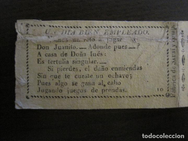 Papel de fumar: ENVOLTORIO PAPEL DE FUMAR SAURI Y COMP-SIGLO XIX-BARCELONA-VER FOTOS-(V-16.138) - Foto 2 - 155673062