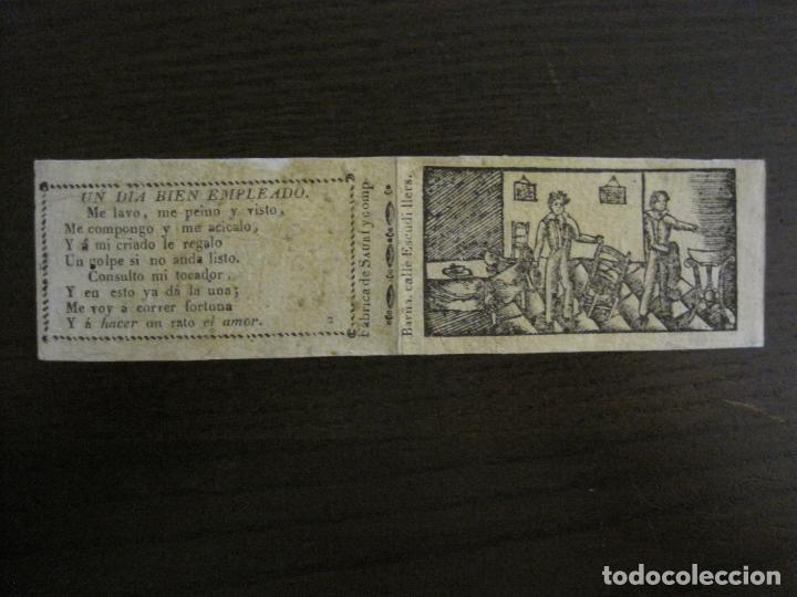 ENVOLTORIO PAPEL DE FUMAR SAURI Y COMP-SIGLO XIX-BARCELONA-VER FOTOS-(V-16.139) (Sammelleidenschaft Objekte - Objekte zum Rauchen - Zigarettenpapiere)