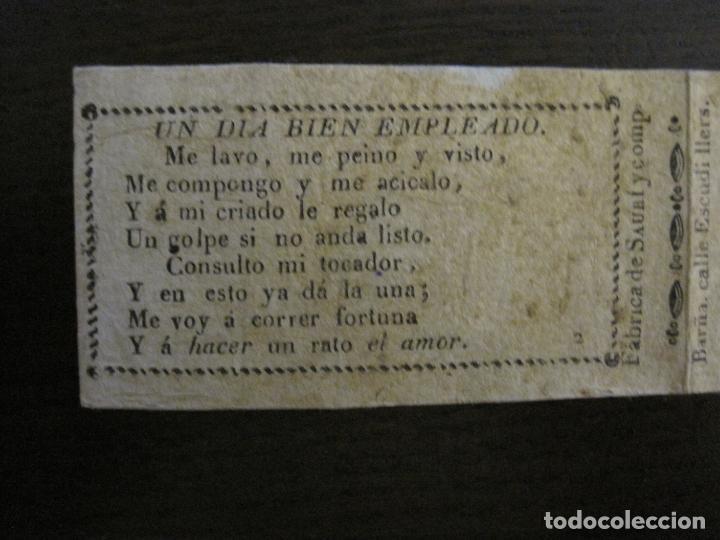 Zigarettenpapiere: ENVOLTORIO PAPEL DE FUMAR SAURI Y COMP-SIGLO XIX-BARCELONA-VER FOTOS-(V-16.139) - Foto 2 - 155673198