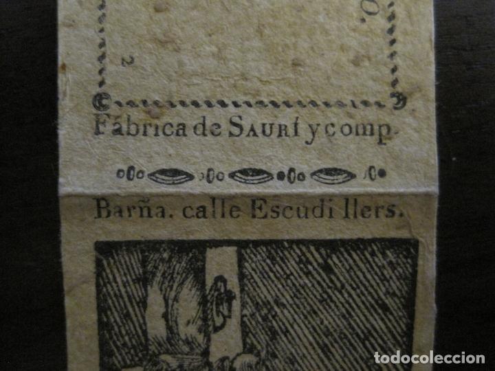 Zigarettenpapiere: ENVOLTORIO PAPEL DE FUMAR SAURI Y COMP-SIGLO XIX-BARCELONA-VER FOTOS-(V-16.139) - Foto 4 - 155673198